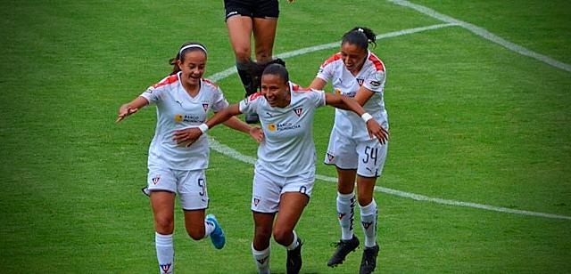 Hilaris Villasana marcó su primer gol en la superliga de Ecuador | Foto: Prensa LDU |