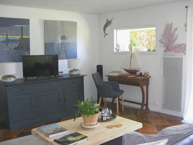 Holiday cottage desk. Charente-Maritime. France. Photo by Loire Valley Time Travel.