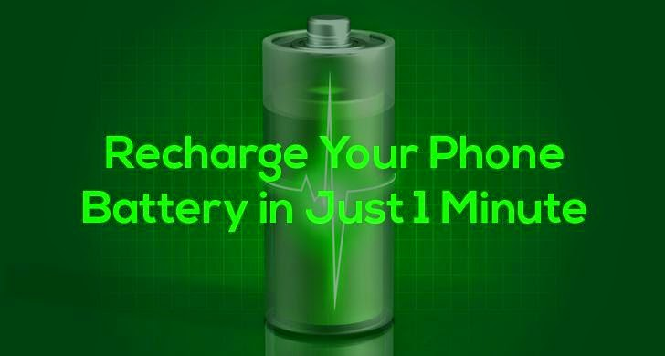 Aluminium Battery that Charges SmartPhone in Just 1 Minute