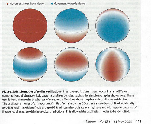 Stellar oscillations generate changes in brightness which can be measured (Source: J Benko, et al, Nature, 14 May 2020)