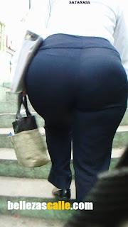 Sexi mujer oficinista caderona pantalon apretado