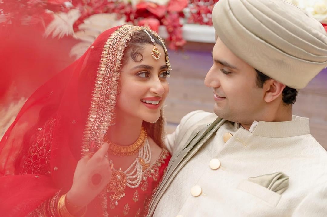 Ahad Raza Mir wedding with Sajjal Ali was held in UAE