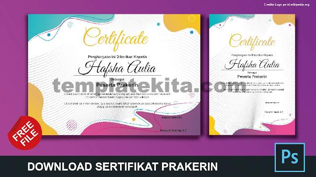 Free File : Download Contoh Sertifikat Prakerin Gratis Berbagai Format Part 2