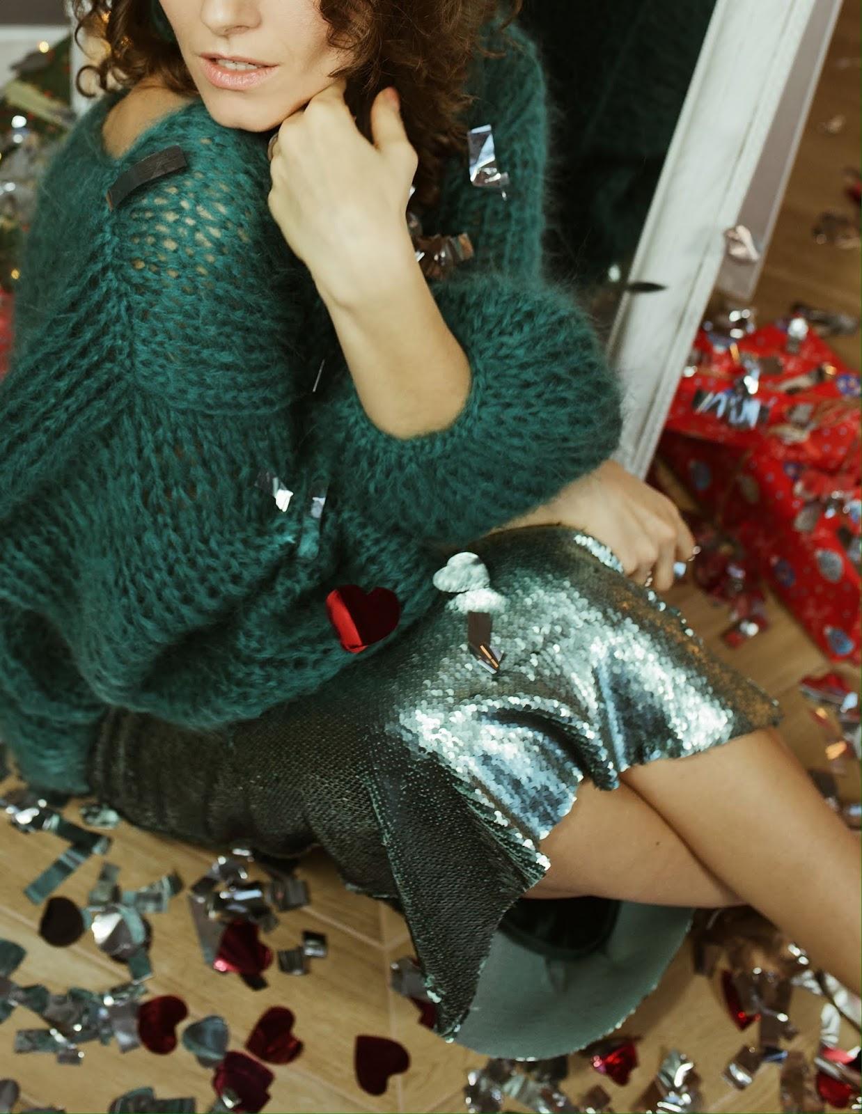 стильное сочетание со свитером