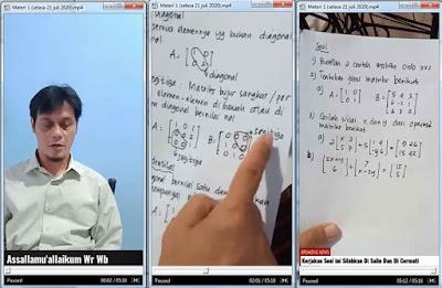 Pak Amir memberikan Materi