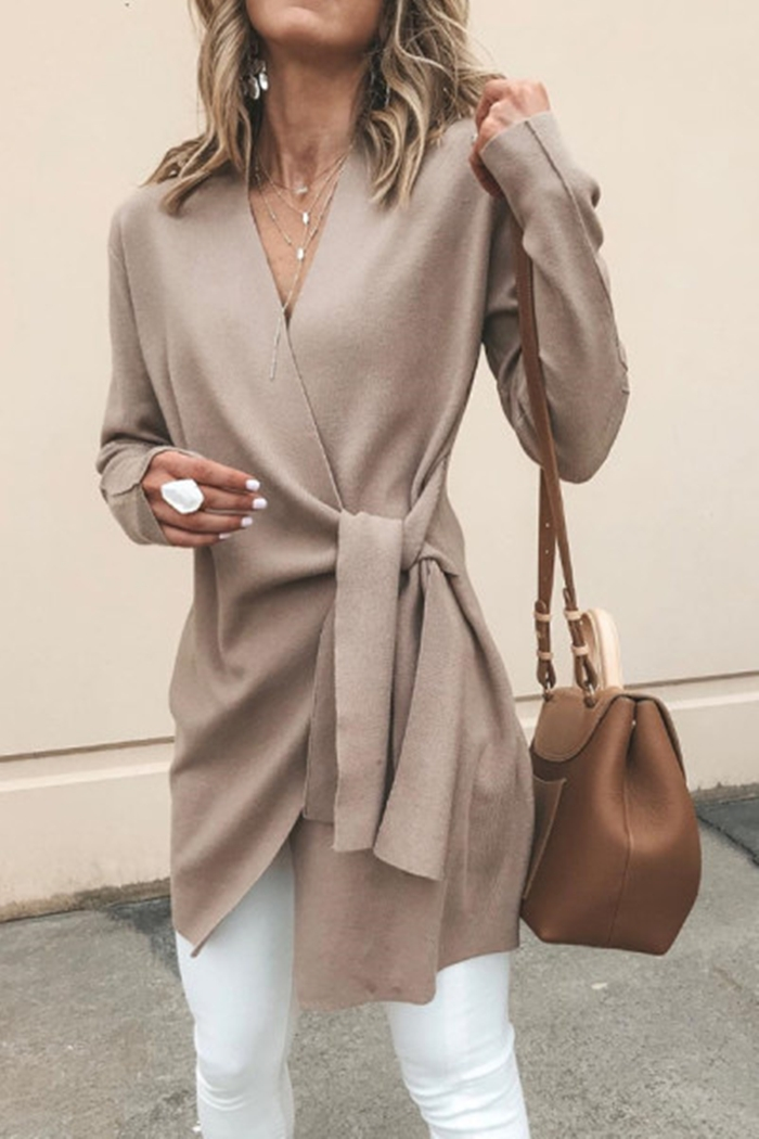 https://www.luvyle.com/v-neck-belt-plain-outerwear-p-46089.html