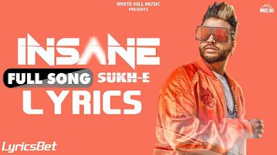 Insane Lyrics - Sukhe