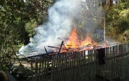 Kebakaran, Hanguskan, 1, Rumah, Di, Bontoala, Selayar