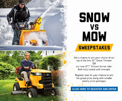 Cub Cadet Snow or Mow Sweepstakes