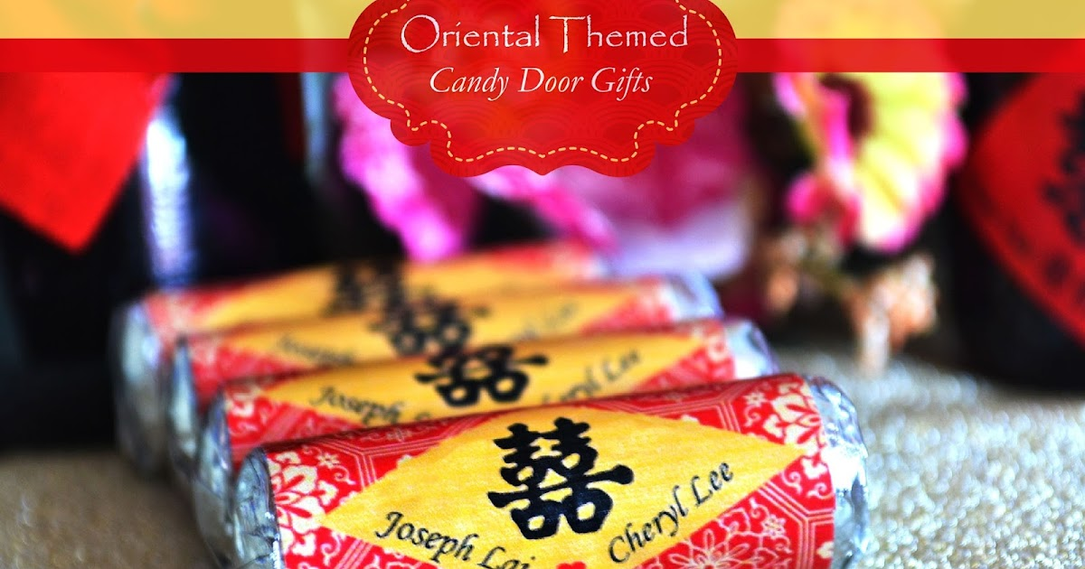 Chocolate For Wedding Door Gift : ... Malaysia Crafty Farms Handmade : Oriental Themed Candy Door Gifts