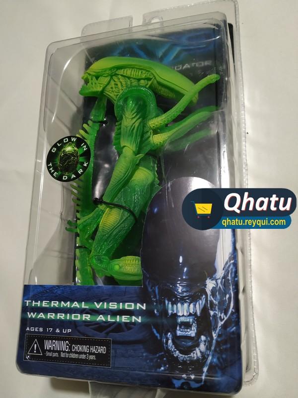 "(Bs. 155) Thermal Vision Warrior Alien ""AVP"" (Marca Neca)"