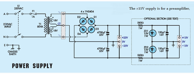 LM1875 power supply diagram