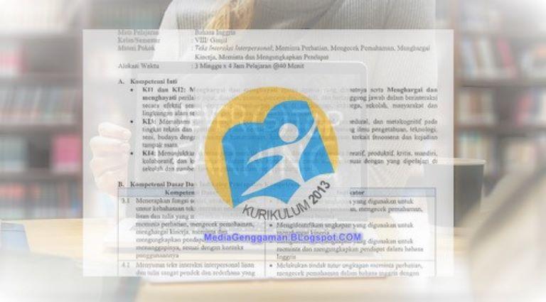 RPP Bahasa Inggris Kelas 4, 5, 6 SD MI Semester 2 K-13 Edisi Revisi 2019
