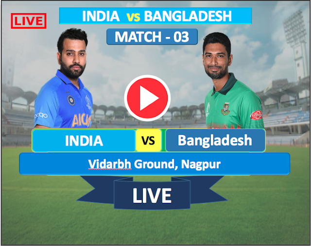 Watch Live Match India  vs  Bangladesh - 2nd T20 match 7 NOV,  Bangladesh  Tour of India 2019