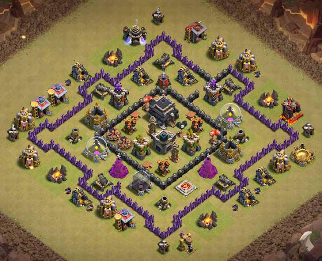 Base Town Hall 7 Clash of Clans War
