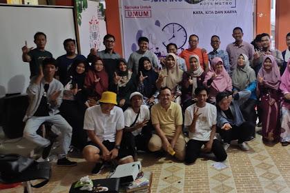 Perdana adakan Diskusi, Komunitas Beranda Literasi Kota Metro ajak Masyarakat Kota Metro Bangun Budaya Literasi