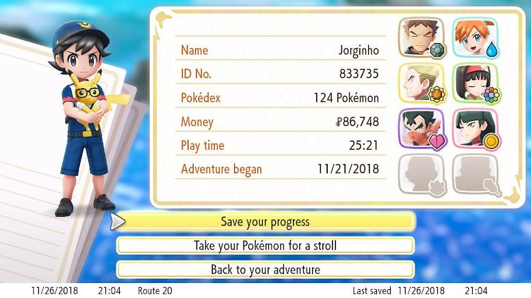 Jogo Finalizado - Pokémon PLGPE
