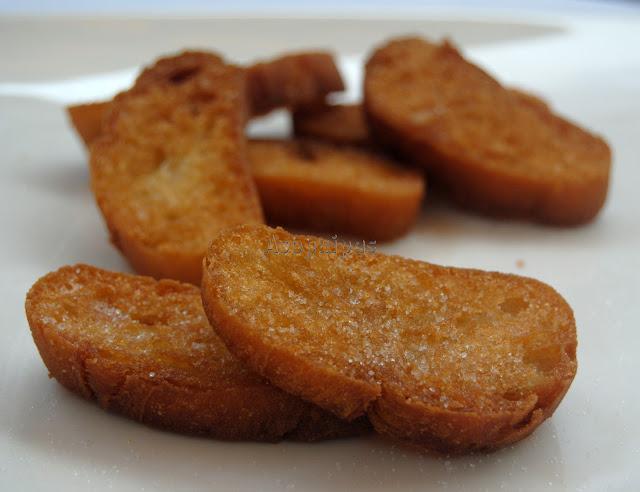 Rebanadas de Pan Frito o Rebanás