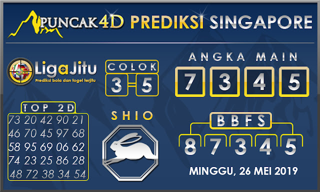 PREDIKSI TOGEL SINGAPORE PUNCAK4D 26 MEI 2019