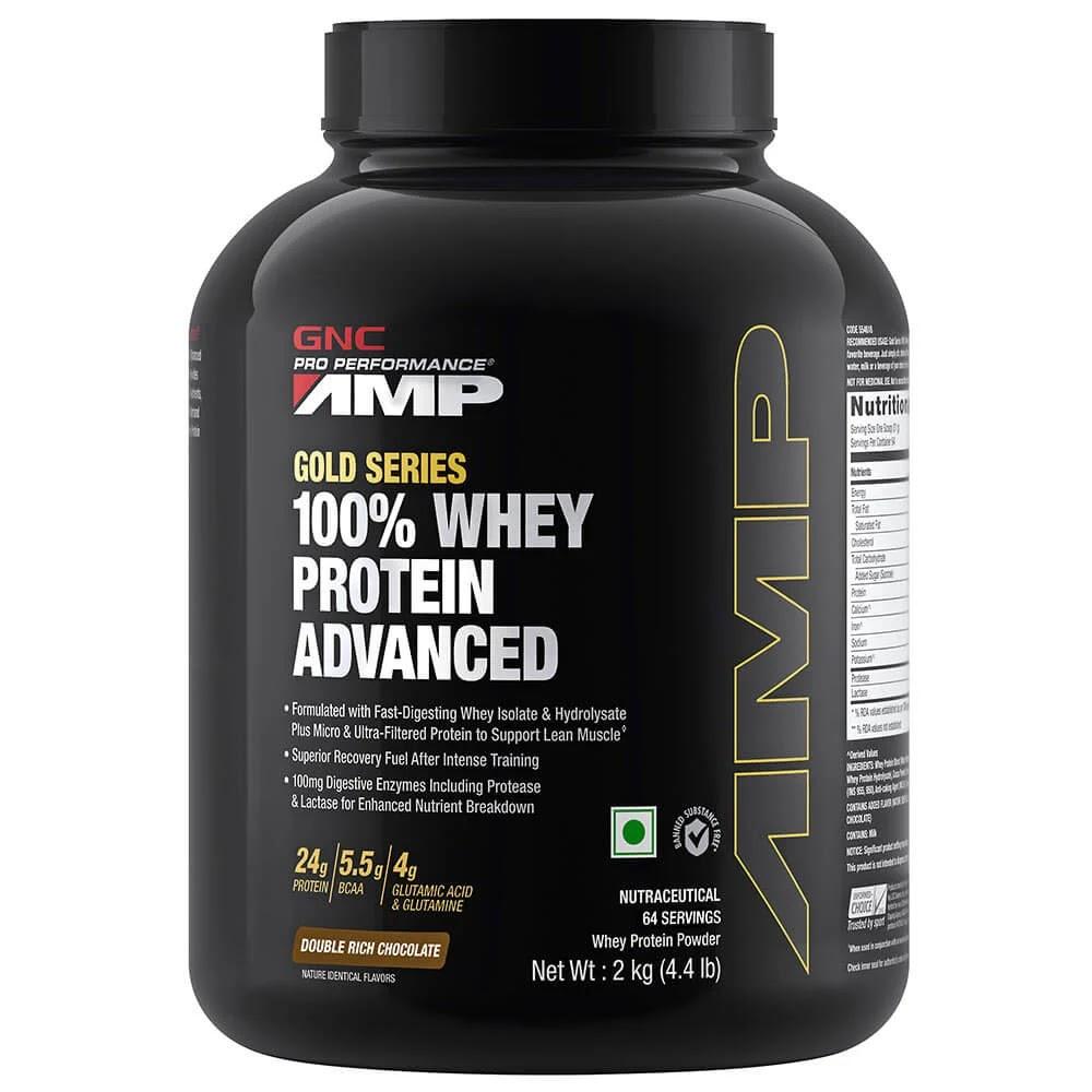GNC Amp Gold Series 100% Whey Protein Advanced, 4.4 lb