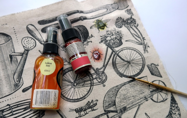 How to Color Canvas With Tattered Angels Glimmer Mist by Dana Tatar