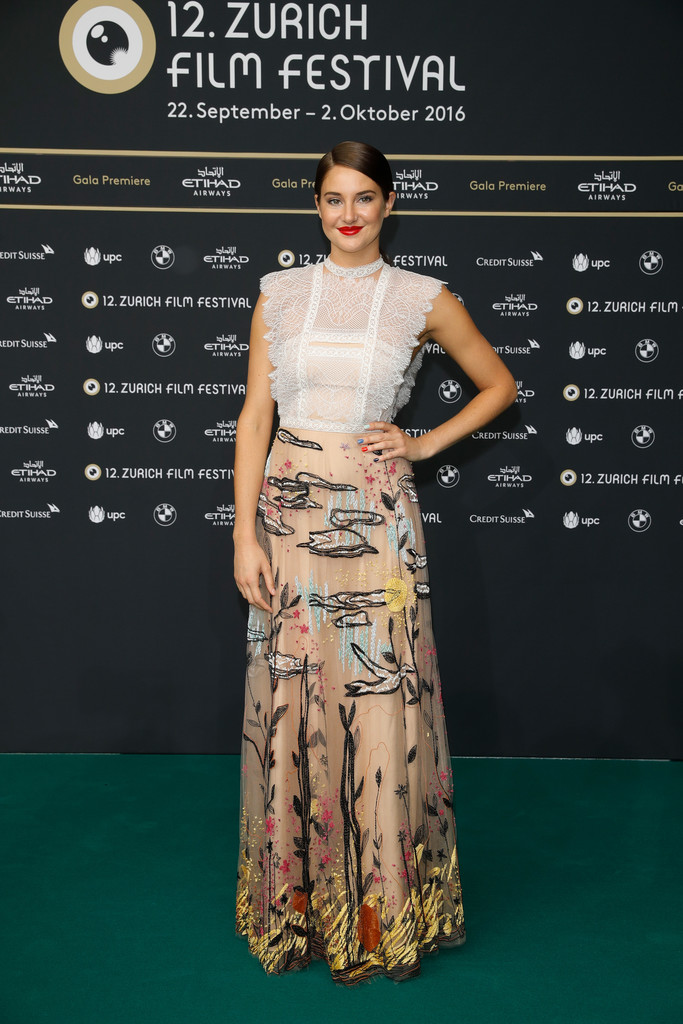 Shailene Woodley at 'Snowden' Premiere during the 12th Zurich Film Festival