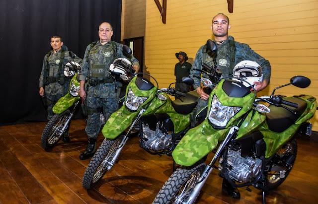 Destacamento Ambiental da GCM de Santo André recebe motocicletas e novo fardamento