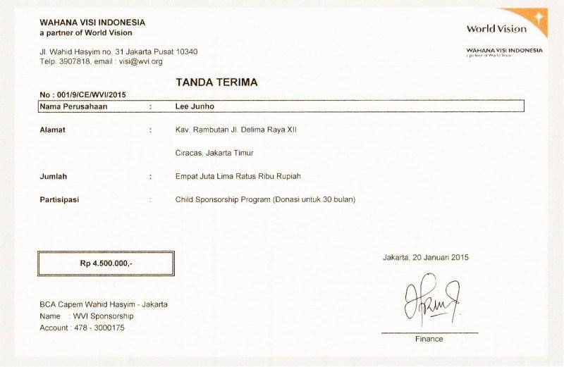 Contoh Kwitansi Tanda Terima
