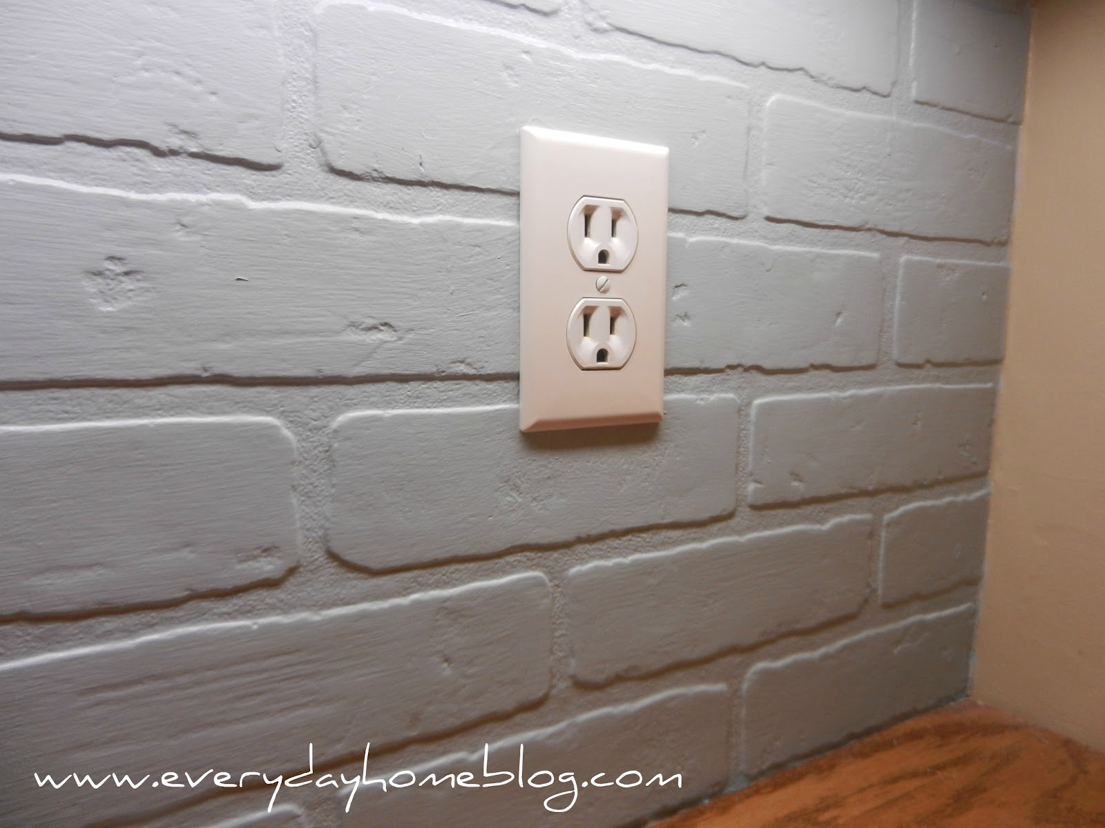- Budget Friendly, Painted Brick Backsplash At The Everyday Home