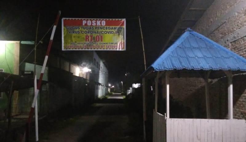 Posko I RT 01 Jaya Mukti Dumai Timur Siap Siaga Antisipasi Covid-19