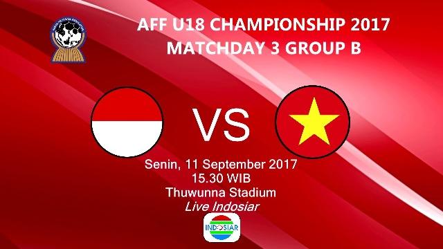 Indonesia vs Vietnam Piala AFF U-18 2017: Garuda Nusantara Siap Tempur #TimnasDay