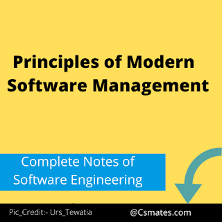 principles of modern software management in software engineering