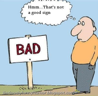 Hmm... That's not a good sign! Bad sign! Funny meme