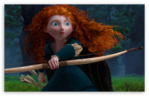 Merida and her bow in Brave 2012 animatedfilmreviews.filminspector.com