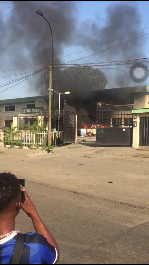 The Nation Newspaper Office Was Torched –Editor