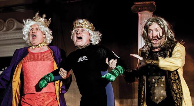 Offenbach: La belle Helene - Robert Gildon, Paul Featherstone, Charles Johnston - New Sussex Opera (Photo Robert Knights)