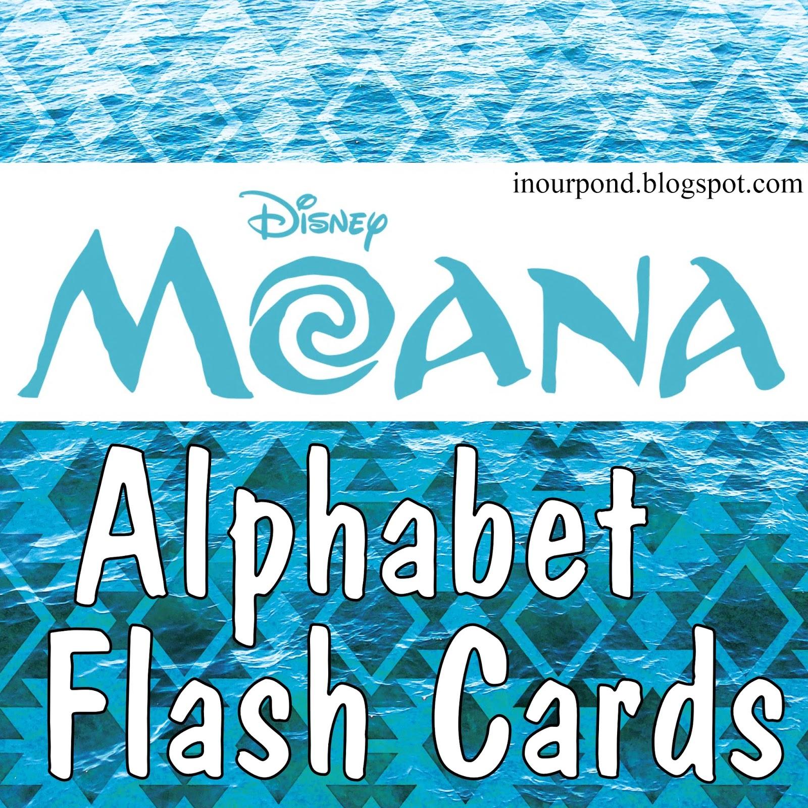 Moana Alphabet Flashcards