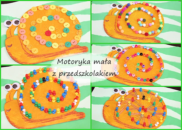 Motoryka mała na wiosnę, fine motor with kids, small motor with kids