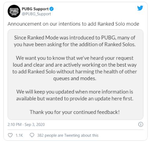 PUBG Updates: PUBG Adding Fans-Requested Game Mode