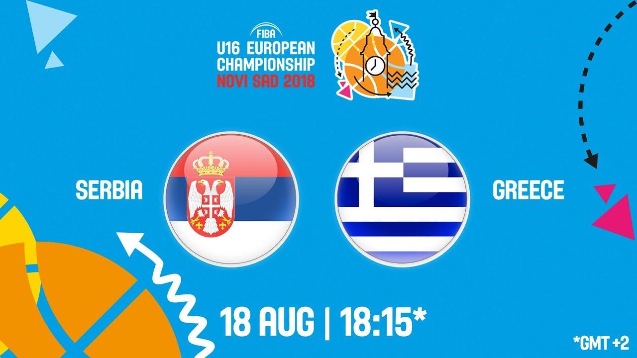 Σερβία - Ελλάδα ζωντανή μετάδοση στις 19:15 από την Σερβία (Νόβι Σαντ), για το Ευρωπαϊκό Παίδων (Θέσεις 5-6)
