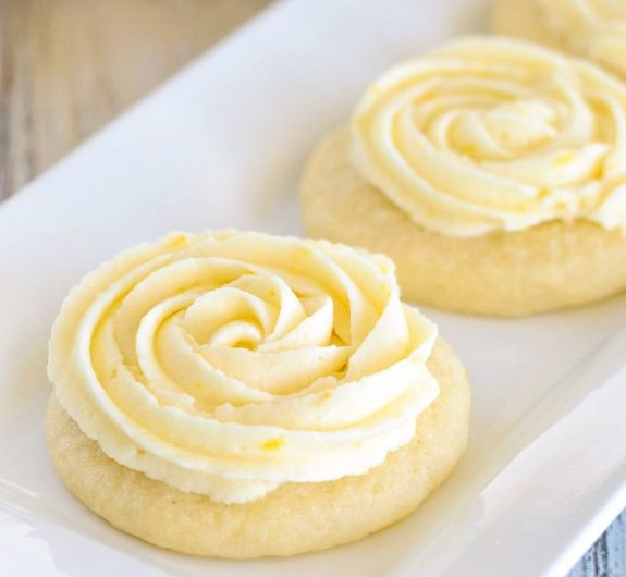 LEMON SUGAR COOKIES #desserts #lemoncookies