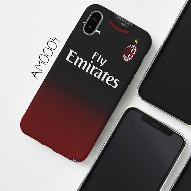 casing hp jersey Milan merah hitam
