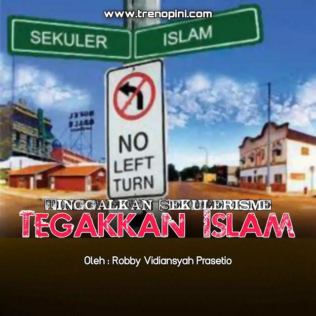 Islam sudah tidak lagi di pandang sebagai ideologi (jalan hidup), islam saati ini diyakini hanya sebatas agama ritual saja. Kemudian pemikiran sekulerisme menjadi aqidah baru bagi umat islam saat ini.   Sekulerisme adalah sebuah pemikiran yang meyakini keberadaan tuhan, namun tidak dalam kekuasaannya untuk mengatur seluruh aspek kehidupan dan negara. Paham sekulerisme menjadi keyakinan baru bagi umat islam. Sehingga hukum-hukum islam hanya diyakini sebatas pada ibadah ritual saja. Kalaupun hukum islam mau dipakai di dalam kehidupan, maka yang diambil hanya sebagian saja, seperti sholat, puasa, zakat, haji, nikah, dzikir, sedekah, sholawat, dll. Tetapi jika berbicara tentang jihad, politik, ekonomi, pendidikan, sosial budaya, keamanan, islam tidak boleh ikut campur di dalamnya.