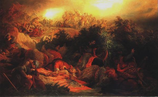 Battle of Mohács by Bertalan Székely, Macabre Paintings, Horror Paintings, Freak Art, Freak Paintings, Horror Picture, Terror Pictures
