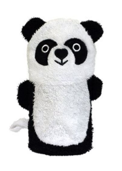 Panda washcloth bath mitt