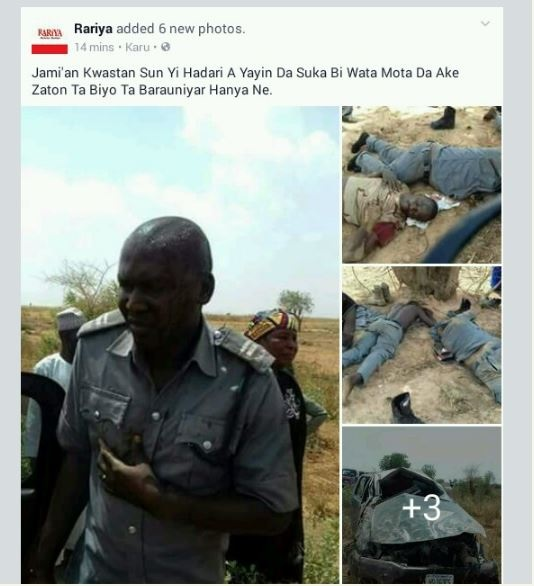 Graphic content!!Customs Officers Pursuing Smugglers Involved In Terrible Accident (Disturbing Photos)