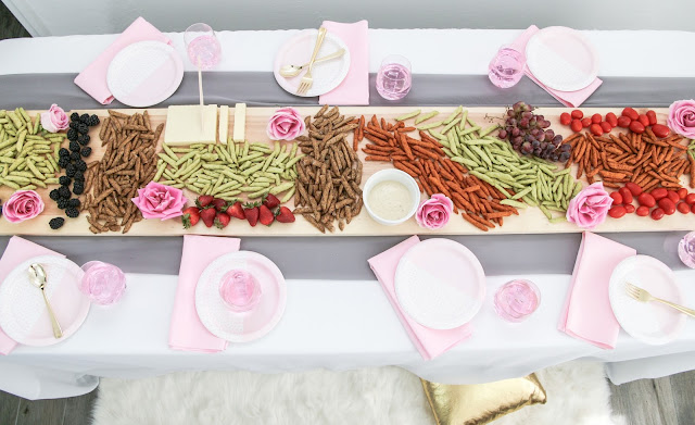 Boho Grazing Table Runner with Harvest Snaps by The Celebration Stylist