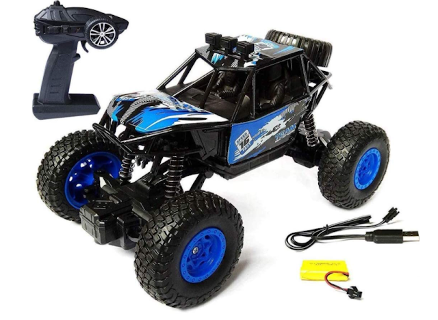 MAITRI ENTERPRISE 1 Rechargeable 4Wd 2.4GHz Rock Crawler Off Road RC Car Monster Truck Kids Toys Remote Control High Speed Cars for Kids (Multi Colour as per Available)-