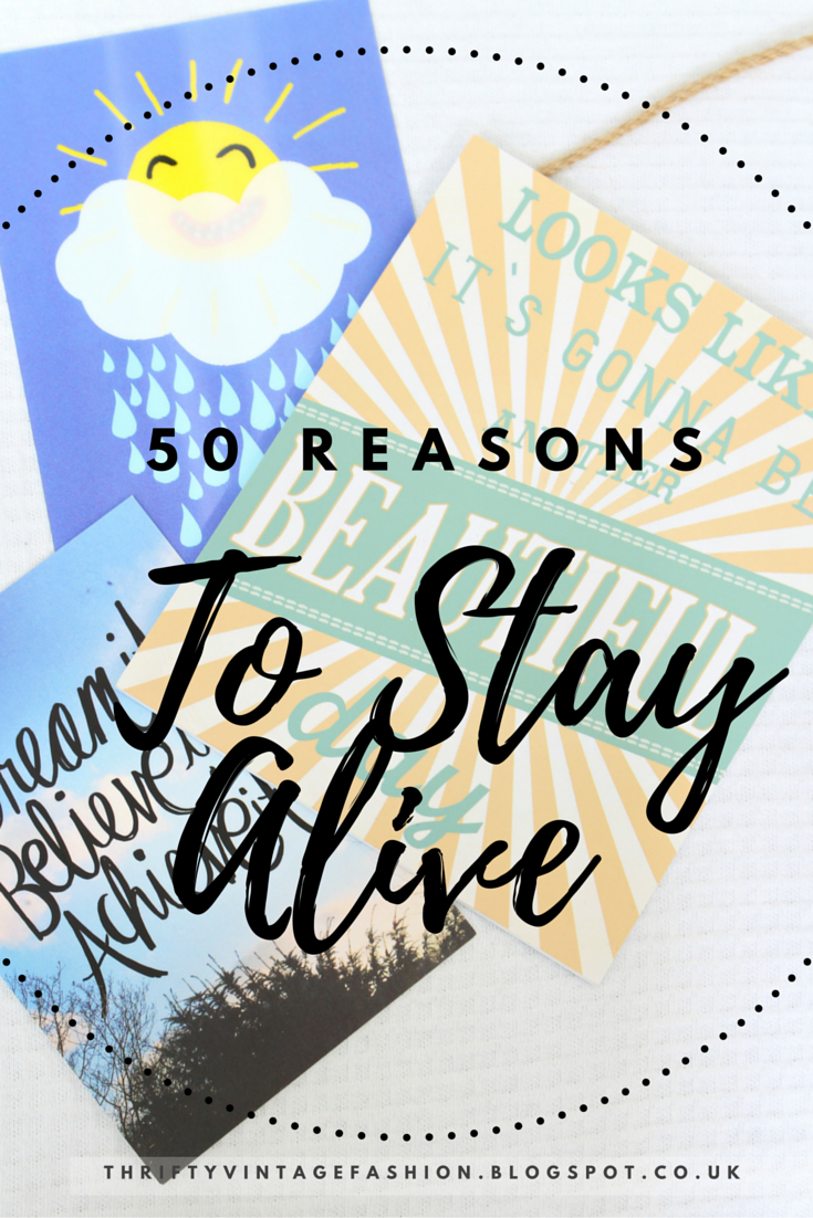 50 Reasons To Stay Alive mental illness mental health support bloggers UK depression