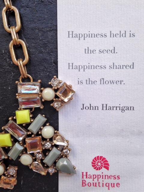 Yellow rhinestone statement necklace